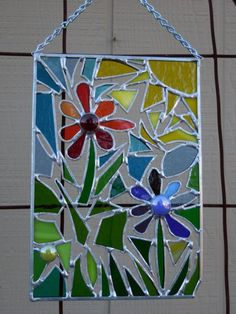 Stained Glass Panel abstract with by DesertGirlGlass on Etsy: