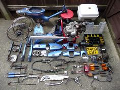 The best way to see a Honda C90 - in bits!