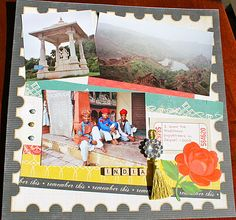 Echo Park for the Record: scrapbook layout