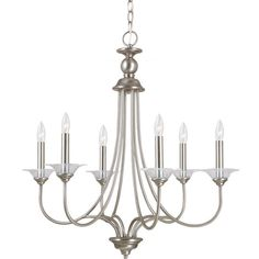 View the Sea Gull Lighting 31318 Lemont 6 Light Single Tier Candle Style Chandelier at LightingDirect.com.
