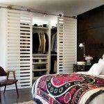 Luxe slaapkamer van loft in Kiev | Interieur inrichting #roomdivider #walk in closet