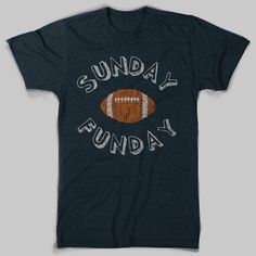 Sunday Funday football tee
