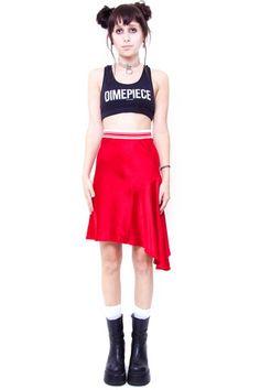 1990's Sporty Spice Silk Skirt - S