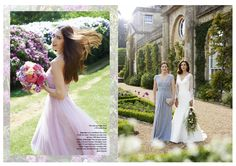 John Charles Eveningwear featured in Wedding Magazine (Blue outfit on the right)  www.johncharles.co.uk