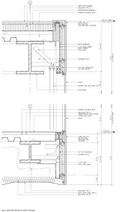 grandma-office-of-metropolitan-architecture-iwan-baan-milstein-hall.jpg × - Details - grandma-office-of-metropolitan-architecture-iwan-baan-milstein-hall. Section Drawing Architecture, Oma Architecture, Concrete Architecture, Architecture Details, Computer Architecture, Construction Drawings, Construction Design, Curtain Wall Detail, Wall Section Detail