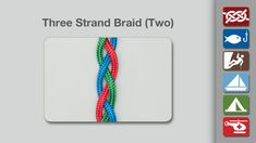 This Three Strand Braid is the one less commonly used to braid hair.  Each outer strand is passed under the center strand.