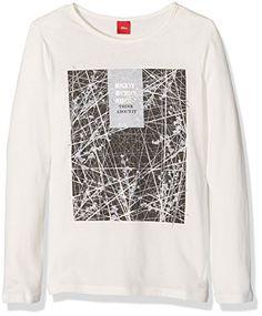#s.Oliver #Mädchen #Langarmshirt #66.608.31.5938, #Elfenbein #(Ecru #0210), #140 #(Herstellergröße: #S) s.Oliver Mädchen Langarmshirt 66.608.31.5938, Elfenbein (Ecru 0210), 140 (Herstellergröße: S), , Modisches Langarm T-Shirt aus reiner Baumwolle mit Print, mit Rundhalsausschnitt, , ,