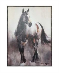 Wood Framed Wall Canvas with Horse©