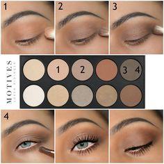 Pretty eye makeup 1 2 3 step