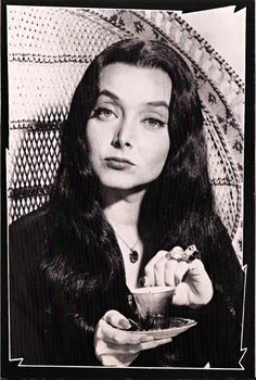 Vintage TV Classsing Addams Family Postcard: Morticia Frump Addams [Carolyn Jones]
