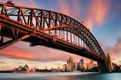 Sydney Harbour Bridge by Sunset