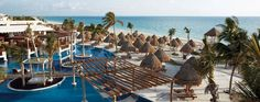 Luxury resort, pool and beach at Playa Mujeres, Cancun