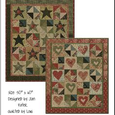 Lilly's Hearts and Stars pattern - regularly 9.00 | Jan Patek's Store