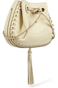 Chloé   Inez small studded textured-leather shoulder bag   NET-A-PORTER.COM