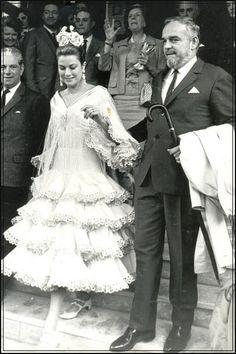 La Princesa Gracia de Mónaco vestida por Lina para la feria de 1966