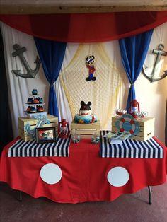 Nautical mickey birthday Sailor Birthday, Mickey First Birthday, Sailor Party, Birthday Themes For Boys, 1st Boy Birthday, Boy Birthday Parties, Mickey Baby Showers, Anchor Baby Showers, Nautical Mickey