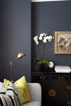 Superb-Farrow-And-Ball-decorating-ideas-for-Artistic-Living-Room-Contemporary-design-ideas-with-antique-chinese-dresser-black-lacquered-brass-floorlamp-Designers-Guild-farrow-ball-hague.jpg 660×990 pixels