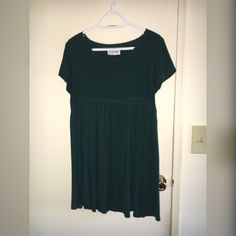 American Apparel Rayon babydoll dress Short sleeve babydoll dress with loose waistline and open neckline. Great condition only worn 3 times American Apparel Dresses