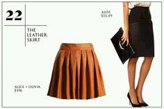Caramel Leather Skirt!