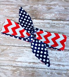 Adult - 4th of July - Red White Blue - Dolly Bow REVERSIBLE Tie Up Headscarf Headband Bandana Hair Accessory Boho Rockabilly - American Flag on Etsy, $12.00