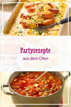 Partyrezepte aus dem Ofen Party recipes from the oven have a big advantage: they are great to prepare! Grilling Recipes, Cooking Recipes, Party Buffet, Pampered Chef, Finger Foods, Oven, Good Food, Food And Drink, Easy Meals