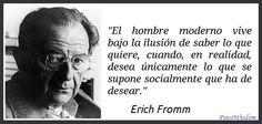 Erich Fromm (1900 - 1980) fue un destacado psicoanalista, psicólogo social y filósofo humanista de origen judeoalemán.  #Psicologia #Filosofia #Humanismo #CitaCelebre