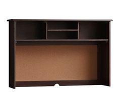 Universal Large Desk Hutch, Cocoa