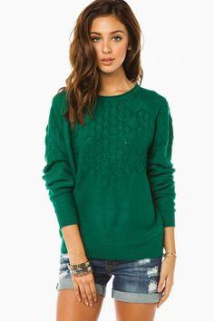 Jaclyn Sweater in Green.