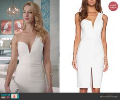 Petra's white one shoulder dress on Jane the Virgin.  Outfit Details: http://wornontv.net/45738/ #JanetheVirgin