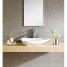 Fine Fixtures Modern Vitreous Triangular Vessel Sink Vessel Bathroom Sink