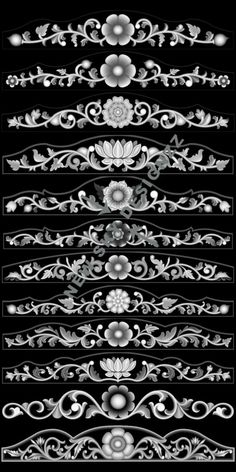 stl File Size :- 15 MB (Autocad view in last blue colour image) Wood Carving Designs, Wood Carving Patterns, Motif Arabesque, Alpha Art, Cnc Cutting Design, Boarder Designs, Zbrush, Grayscale Image, Pinstriping Designs