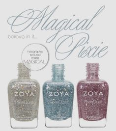 """Sassy Paints: Zoya Spring 2014 Collection """"Magical Pixie"""" Press Release  I need these in my life! Textured scattered holos! OMG yes please!"""