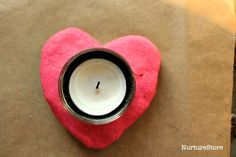 How to make colored salt dough recipe and a pretty Valentine craft for kids making salt dough candle holders. Felt Christmas Decorations, Beaded Christmas Ornaments, Christmas Crafts, Homemade Christmas, Christmas 2019, Around The World Crafts For Kids, Crafts For Kids To Make, Salt Dough Ornaments, Homemade Ornaments