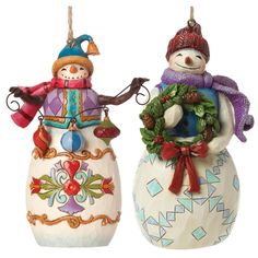 Heartwood Creek Set of 2 Snowmen Hanging Ornaments by Jim Shore NEW 23331 | eBay