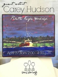 See you 4.27.14 for Palette Knife Workshop with Local Artist Carey Hudson #localflavor #greenvillesc