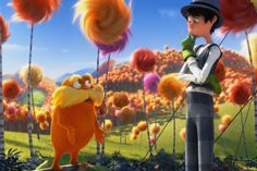 Last weekend, I had the opportunity to attend a screening of Dr. Seuss' The Lorax before it hit theaters. The showing, sponsored by NEA and Mocha Moms, brought hundreds of DC kids to view the movie and learn an important message about the environment. Goat Cartoon, Cartoon N, The Lorax, Dreamworks, Otaku, Sigh In, Cute White Boys, Dark Souls 3, Voltron Ships