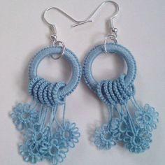 Crochet Pillow Lace Products New Ideas Crochet Earrings Pattern, Crochet Bikini Pattern, Bead Crochet, Crochet Crafts, Crochet Patterns, Tatting Earrings, Tatting Jewelry, Tatting Lace, Needle Tatting Tutorial