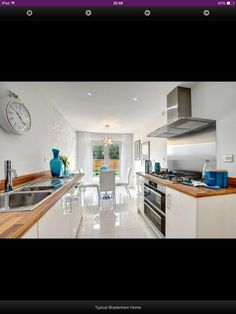 Taylor Wimpey Showhome Kitchen Kitchen Inspiration, Kitchen Ideas, Kitchen Design, Taylor Wimpey, Galley Kitchens, First Home, Wall Design, New Homes, House Ideas