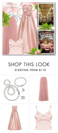 """""""Pink Ladies"""" by interesting-times ❤ liked on Polyvore featuring Mikimoto, Little Mistress, Alexis Mabille and summerwedding"""