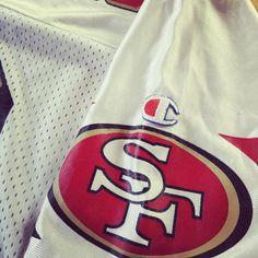 8e031d86 Vintage Champion Jerry Rice San Francisco 49ers NFL White Jersey Mens 44