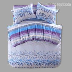 デラックスゴージャスな花スタイルかわいいコットン4ピース寝具セット