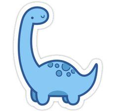 'Cute Dino' Sticker by hocapontas – car stickers Stickers Cool, Bubble Stickers, Meme Stickers, Phone Stickers, Kawaii Stickers, Printable Stickers, Homemade Stickers, Kawaii Drawings, Easy Drawings