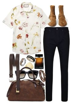 """""""Inspired by Harry Styles."""" by nikka-phillips ❤ liked on Polyvore featuring Dolce&Gabbana, Yves Saint Laurent, NOVICA, Banana Republic, Lauren Ralph Lauren, Gucci, True Religion, Paul Smith, Caputo & Co. and men's fashion"""