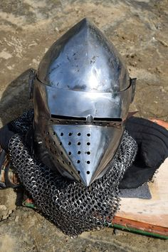 Medieval by Claude Charbonneau on Riding Helmets, Medieval, Mid Century, Middle Ages