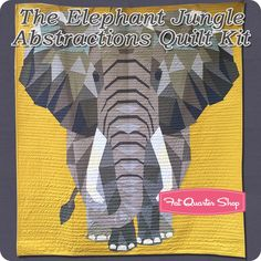 The Elephant Jungle Abstractions Quilt Kit Featuring Cotton Couture Solids by Michael Miller - Quilt Kits   Fat Quarter Shop