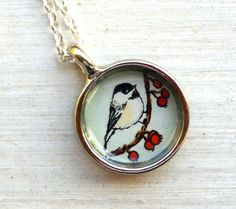 Handpainted watercolor pendant! LOVE IT! Summer project??