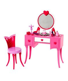 Look what I found on #zulily! Barbie Glam Vanity Set by Barbie #zulilyfinds