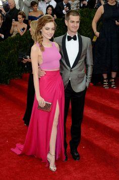 Emma Stone and Andrew Garfield. Met Gala 2014