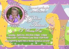 Princess Rapunzel Tangled Like Personalized Photo Invitation