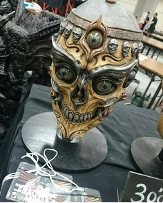 Tibetan skulls from artist Sculpture Art, Sculptures, Skull Reference, Armor Clothing, Cool Masks, Skull Mask, Arte Horror, Masks Art, Skull And Bones